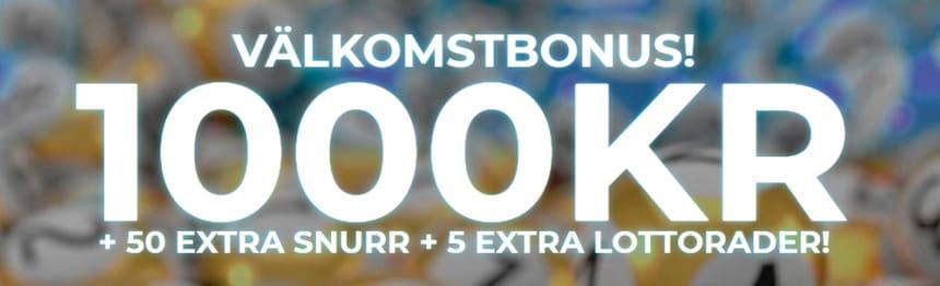 Välkomstbonus 1000 kronor